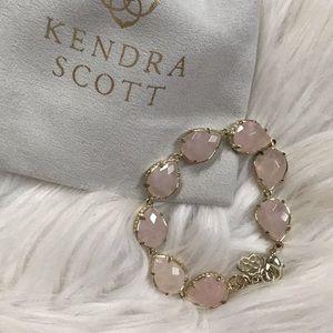 Kendra Scott Gold Brynn Bracelet in Rose Quartz